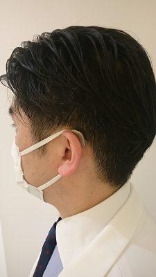 補聴器とマスクを併用している状態