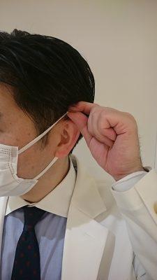 補聴器をしたままマスクを外すための正しい持ち方